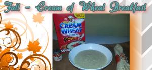 fall flavor cream of wheat breakfast