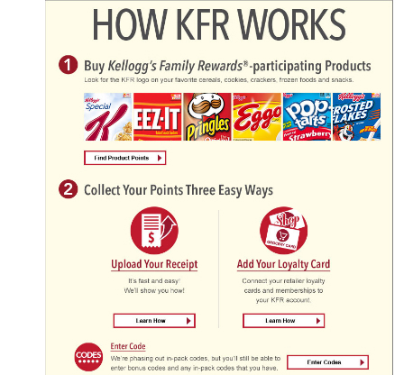 Kellogg's Family Rewards – New Code (100 pts) Nov 2015