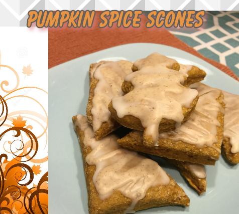 Wheat Mini Pumpkin Spice Scones