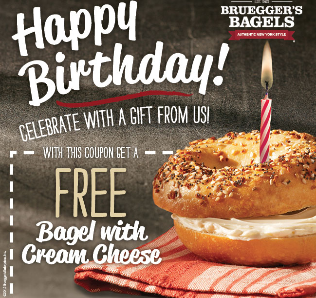 FREE: Brueggers Birthday & Sign Up Coupon (free bagel)