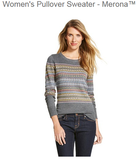 Target Sweaters 40% off as low as $10.19 w/ additional code