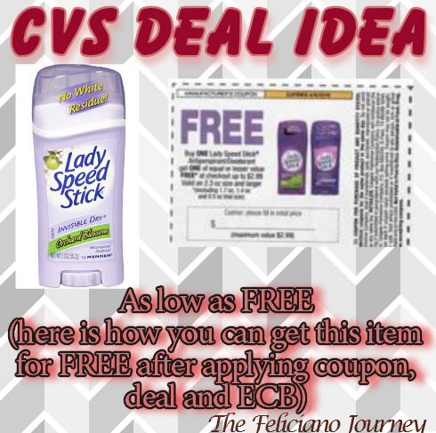 CVS Lady Speed Stick as low as FREE (ends today 1/23)