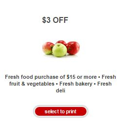 Target Coupon Save $3 on Fresh Food
