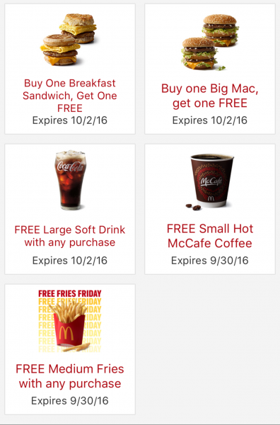 McDonalds FREE Coffee & FREE FRIES (only today)