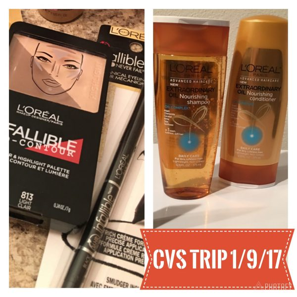 CVS Quick Trip 1/9/17 – $9.97 with an extra $5 EB