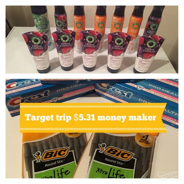 Target Trip 2/4/17 – $5.31 Money Maker (savings of $58.86)