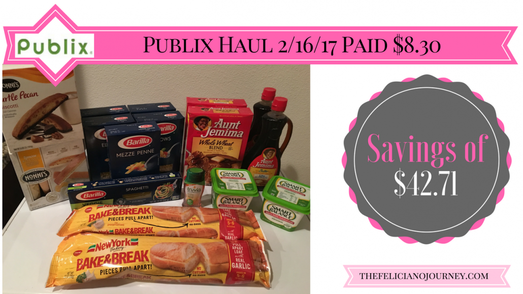 Publix Haul 2/16/17 – $8.30 from $51.01