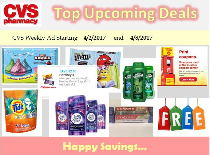 CVS Top deal 4/2/17 up to 4/8/17