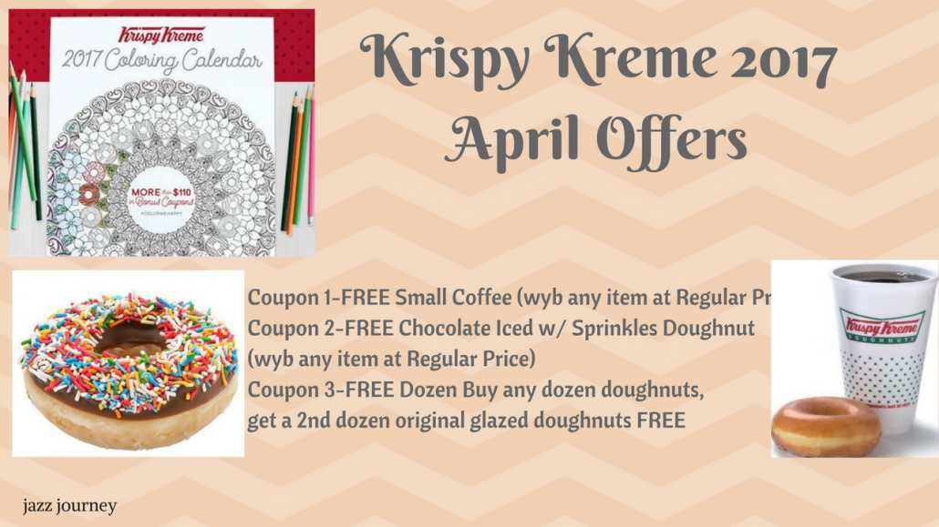 Krispy Kreme 2017 Calendar – April Coupons (ends today)