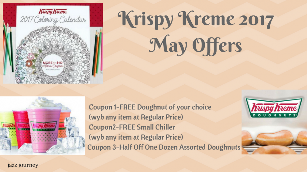 Krispy Kreme 2017 Calendar – May Coupons