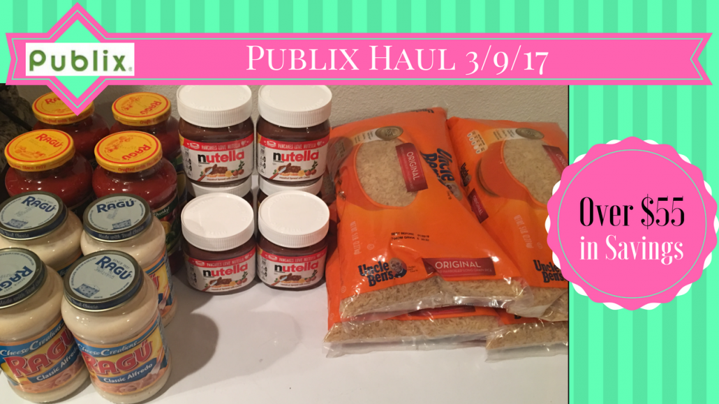 Publix Haul 3/9/17 – $18.62 from $73.74