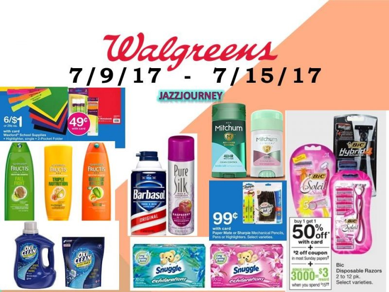 Walgreens Best Deals (starting 7/9/17 – ending 7/15/17)