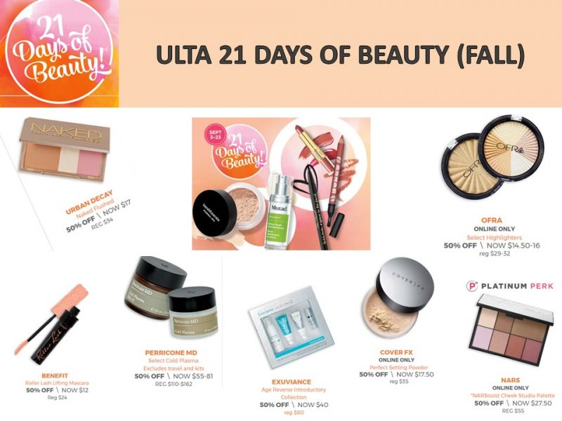 Ulta: 21 Days of Beauty -What's on special today? 9/13/17