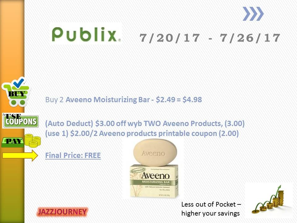 Publix Upcoming Ad 7/20 – Aveeno Soap (FREE)