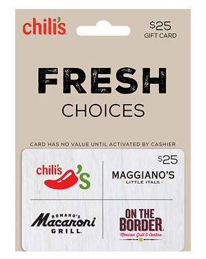 BJ: $25 Chilis Gift Card for $18.99 (anyone can purchase)