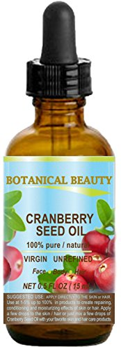 CRANBERRY SEED OIL 100% Pure / Natural. Cold Pressed / Undiluted. For …