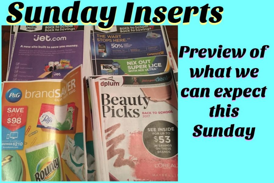 Sunday Inserts (2) (what we can expect on 8/13/17)
