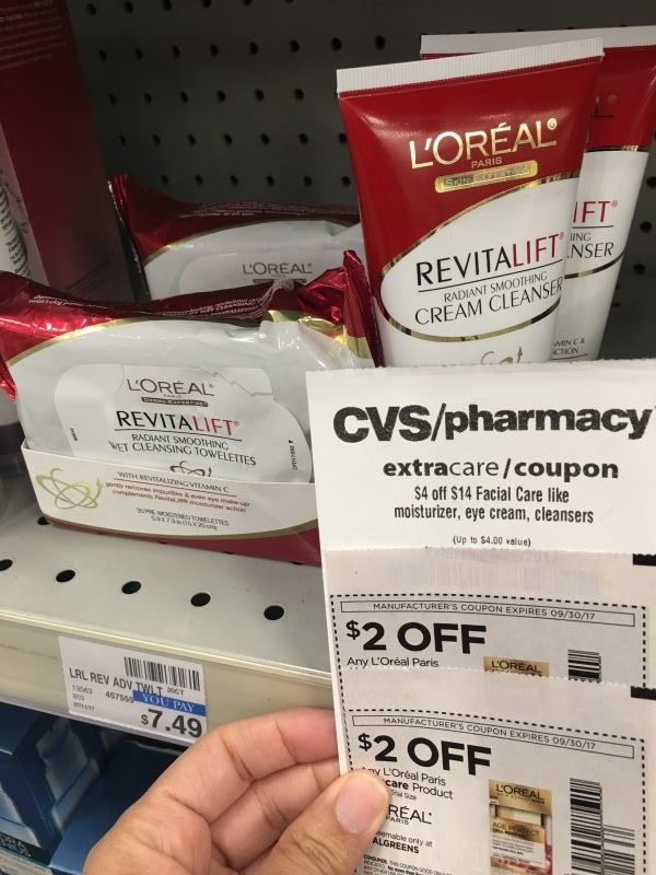 CVS: L'OREAL Towelettes (as low as FREE & possible money maker)