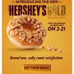 FREE at Krispy Kreme Hershey's Gold for (members only) on 2/21