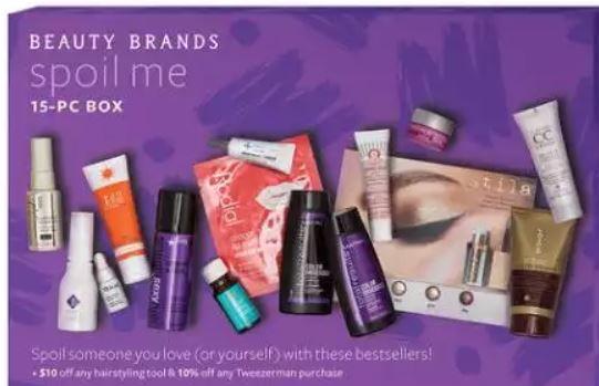 Beauty Brands 14pc Spoil Me Bag – $11.50 (Value $125)