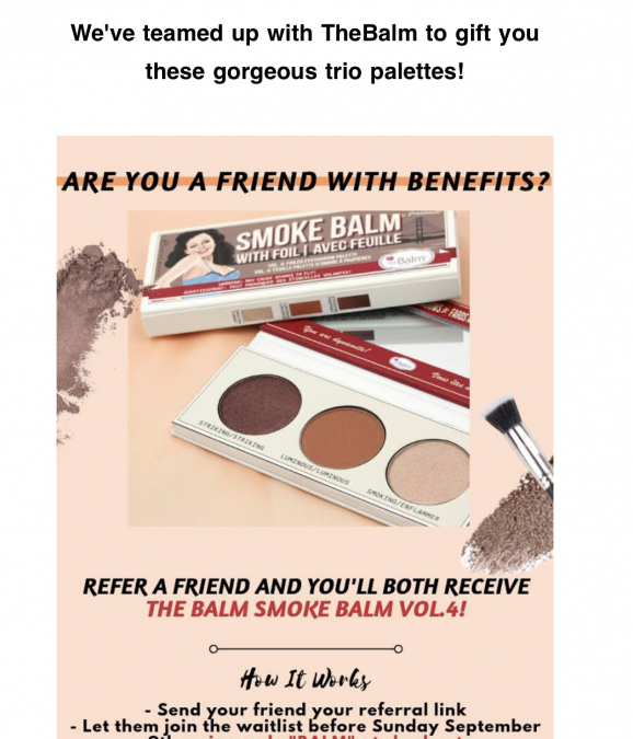 Tribe Beauty Box October 2018 (refer a friend gift)