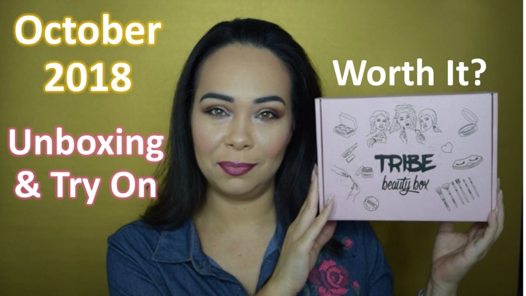 Tribe Beauty Box October 2018 Unboxing