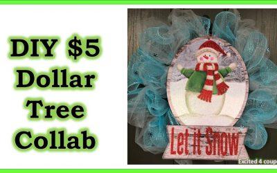 DIY – Dollar Tree $5 Decoration (Wreath)