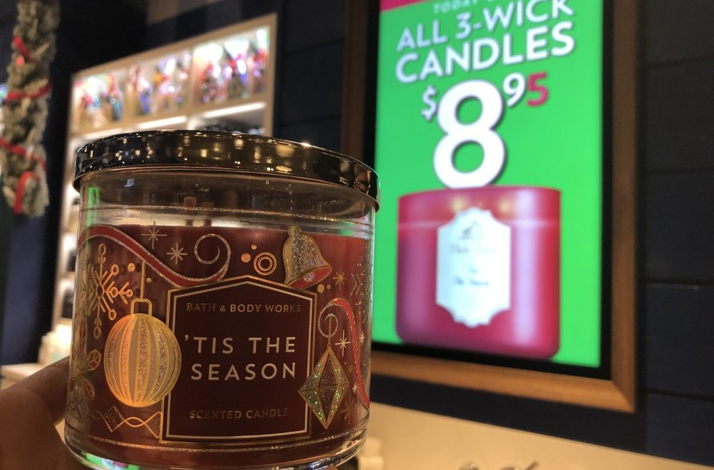 Bath & Body Works 3 wick candles $8.95 (today only)