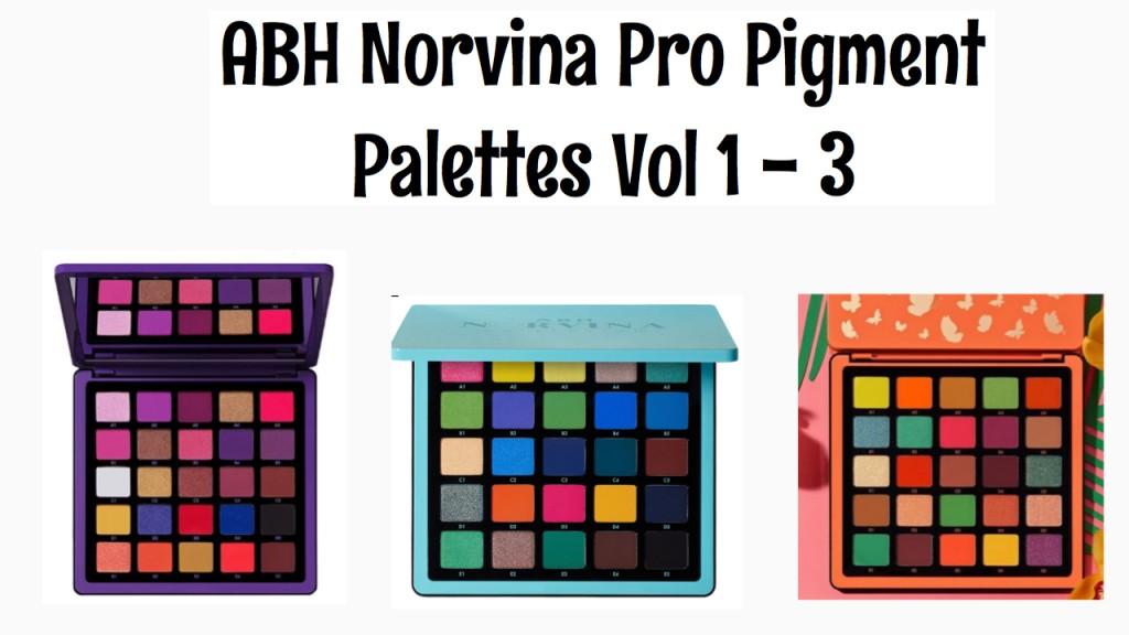 ABH Norvina Pro Pigment Palette Vol. 1- 3
