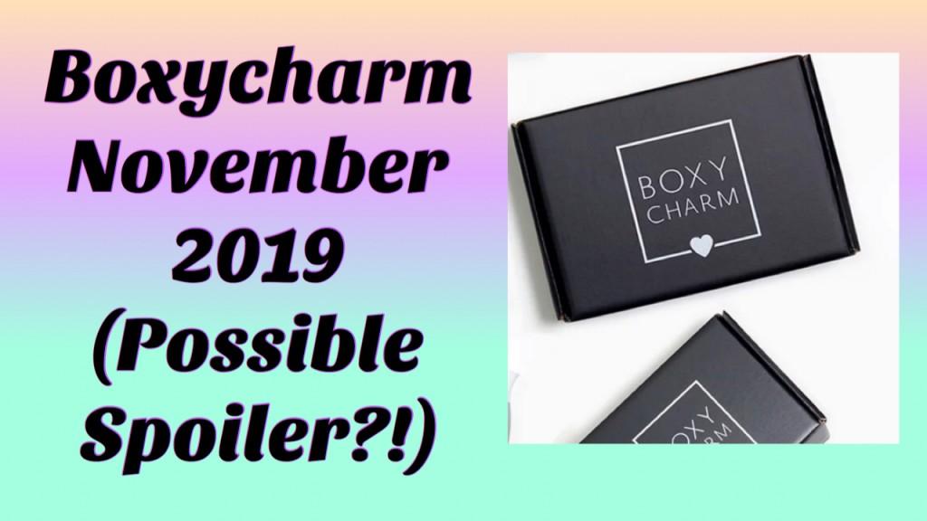 Boxycharm November 2019 Possible Sneak Peek (Foundation ?!)