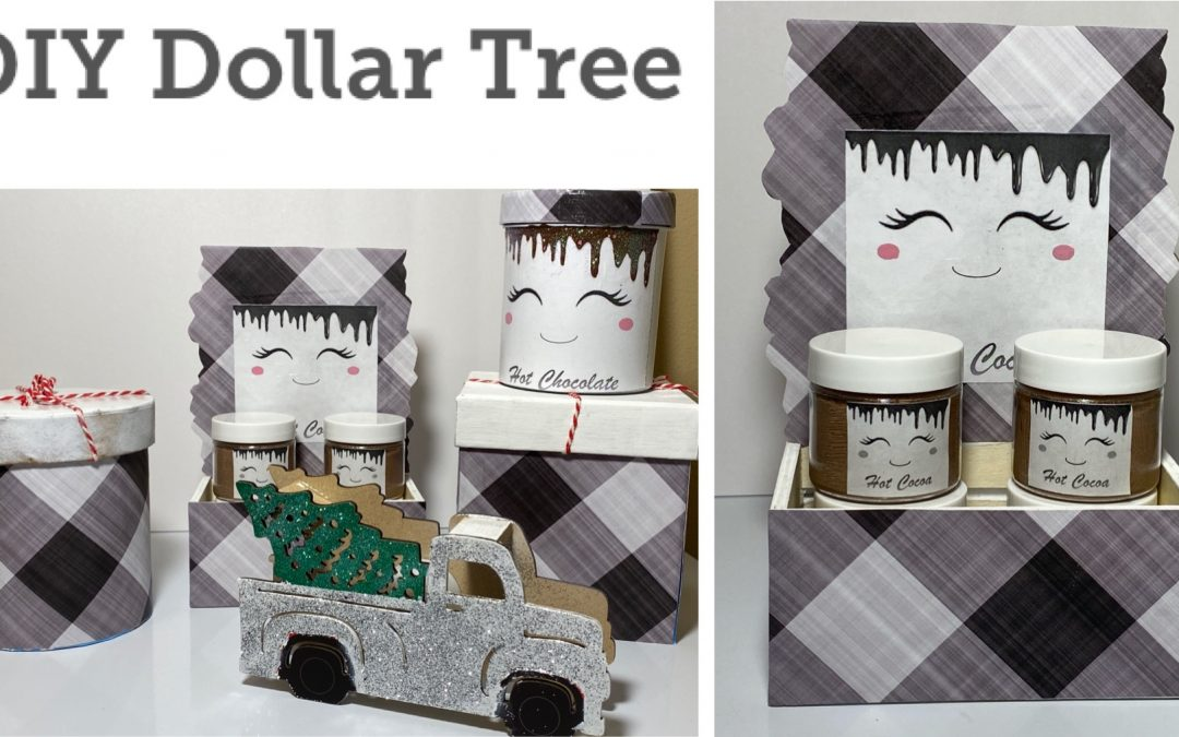 3 Easy DIYs $1 DIY Dollar Tree Christmas 2020 – Hot Cocoa Station – Glam Red Truck