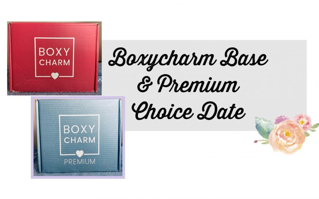 Boxycharm Base & Premium May 2021 Choice date