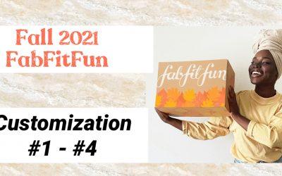 FabFitFun FALL 2021 Choice Customization Sneak Peek #1 – #4