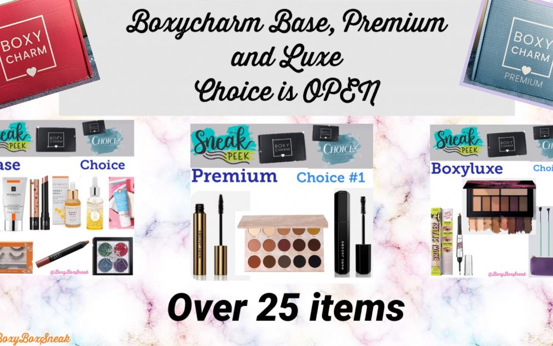 Boxycharm Base, Premium & Boxyluxe June 2021 Choices NOW OPEN