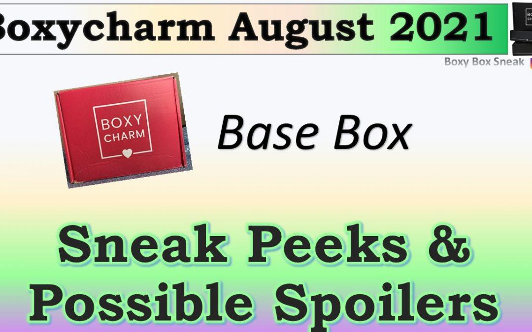 Boxycharm Base Box August 2021 Sneak Peeks