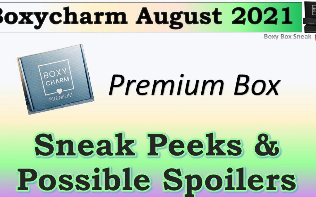 Boxycharm Premium Box August 2021 Sneak Peeks