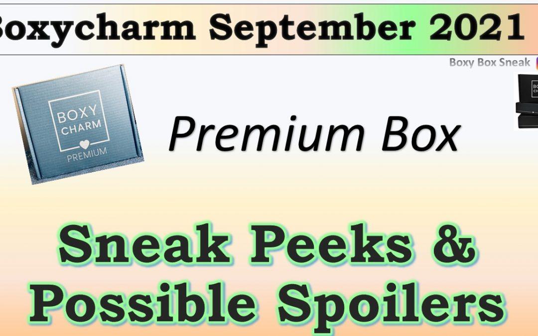 Boxycharm Premium Box September 2021 Sneak Peeks